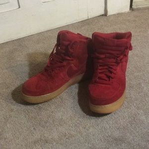 Nike Air Force 1 suede high tops